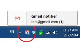 Gmail Notifier Taskbar
