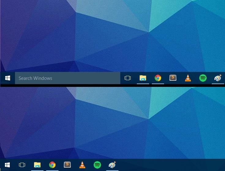 Windows 10: remove the search bar from the Taskbar