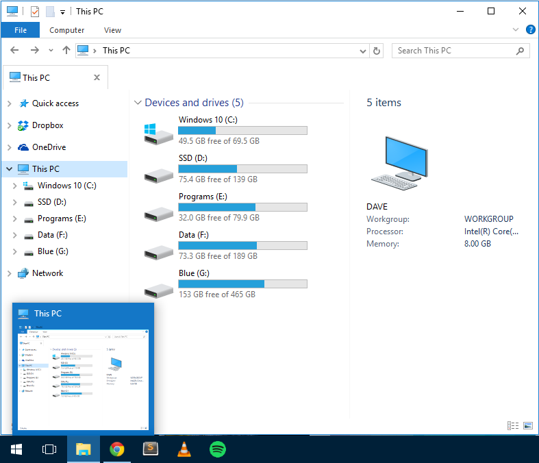 """Windows 10: set File Explorer to open """"This PC"""" instead of """"Quick Access"""""""
